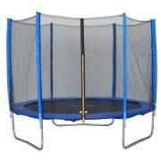 Capetan® Exit | Trambulin védőhálóval - alacsony ugrálófelülettel gyerekeknek (244 cm átmérő)