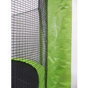 Capetan® Selector Lime 457cm 180Kg terhelhetőséggel - hosszú védőháló tartóoszlopokkal, extra megerősített váz rögzítő T elemmel kialakított, kiemelkedően magas védőhálóval - kültéri prémium trambulin vastag szivaccsal , 89 cm magas ugrálófelülettel