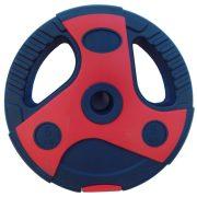 Capetan® Dual Tone | Műanyag súlytárcsa cement töltettel (1,25 kg) (piros-fekete)