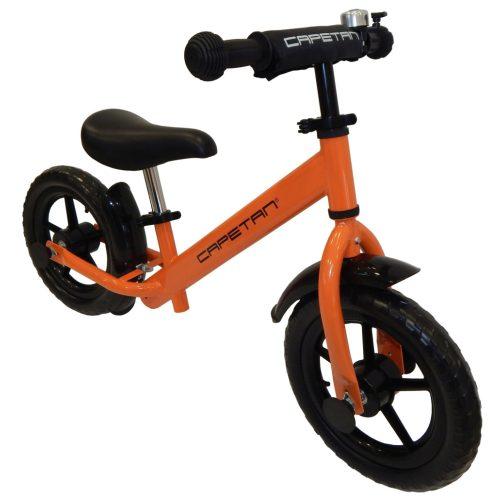 """Capetan® Energy Plus    Futóbicikli, 12"""" kerekű pedál nélküli gyerekbicikli sárhányóval és csengővel (narancs színben)"""