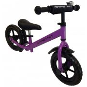 """Capetan® Energy Plus    Futóbicikli, 12"""" kerekű pedál nélküli gyerekbicikli sárhányóval és csengővel  (lila színben)"""