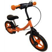 """Capetan® Sirius Premium Line   Futóbicikli, 12"""" kerekű, fékkel ellátott pedál nélküli gyerekbicikli sárhányóval és csengővel (narancs színben)"""