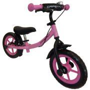 """Capetan® Sirius Premium Line   Futóbicikli, 12"""" kerekű, fékkel ellátott pedál nélküli gyerekbicikli sárhányóval és csengővel (rózsaszín színben)"""