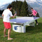 Cornilleau Pro 510 Mat Top | Kültéri pingpong asztal, közösségi asztalitenisz (kék színben)