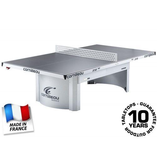 Cornilleau Pro 510 Mat Top   Kültéri pingpong asztal, közösségi asztalitenisz (szürke színben)