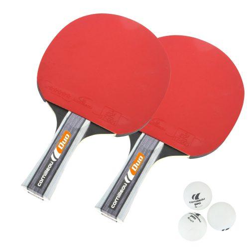 Cornilleau Sport Pack Duo Gatien | Pingpong ütő szett (2db közép-haladó pingpong ütő, 3db pingpong labda)