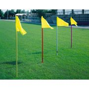 Flexibilis biztonsági talajhüvelyes 4 darab 160 cm hosszú rúdat tartalmazó szett, szegletszászló  rögzítésére is megfelel, zászlót nem tartalmaz