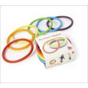 Activity rings készségfejlesztő karika 6 darabos készlet, rugalmas karika 16 cm átmérővel - Gonge