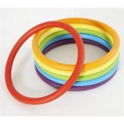 Activity ring 24 db-os sorozat - Gonge gumigyűrű, készségfejlesztő karika