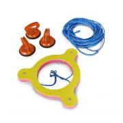 Vízilabda kezdő gyűrű (meccslabda középvonalon rögzító szerkezett 3 db szívókorongos rögzítővel)