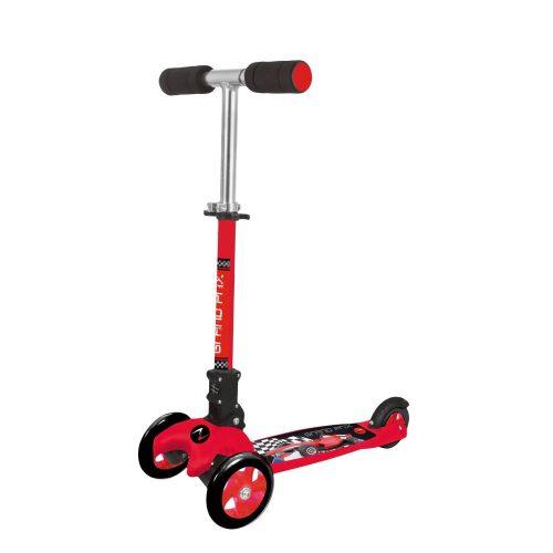 Nextreme GRAND PRIX összecsukható 3 kerekű roller kisfiúknak,  piros színű fékezhető alu roller ,120 mm pvc első dupla kerék, abec 7 csapágyazás