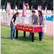 Garlando G-500W Kültéri asztalifoci asztal PIROS átmenő rudazattal