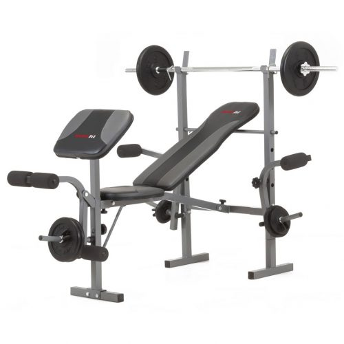 Everfit WBK-500 kombinált fekvenyomó pad lábgéppel bicepsz pad és mellgép nélkül