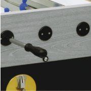 Garlando Olympic - Olympia Silver zsetonos asztalifoci asztal telescop rudazattal LED világítással