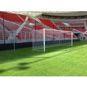 Focikapu (FIFA, UEFA szabvány profilos labdarúgókapu, hüvelyes versenykapu pár szabadon függő hálóhoz)