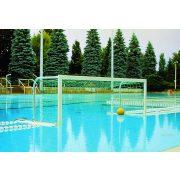 TacticSport | Verseny vízilabda kapu pár (szabadon úszó, behajtható hálótartóval)