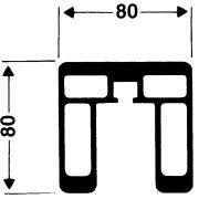 Alumínium röplabda hálótartó oszlop pár (szögletes, 80x80mm, verseny kivitel, DVV1 modell)