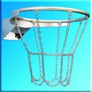 Kosárlabda gyűrű (galvanizált kültéri DIN standard, láncos kivitelben)