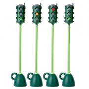 Kresz jelzőlámpa oktatáshoz (forgatható jelzőfejjel, 121 cm magasságig) stabil (5 kg) nem borulékony, kresz szettekhez