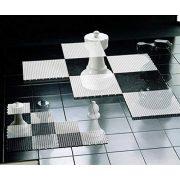 Capetan® | Nagy méretű sakk tábla (143x143 cm UV álló műanyagból, 64 db elemmel)