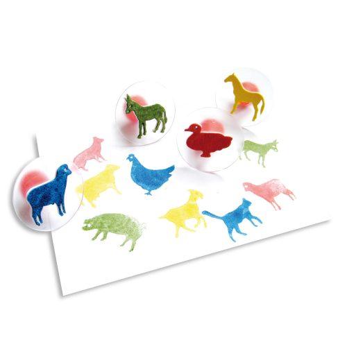 Nyomda 12 háziállat figurával, farm