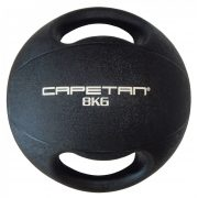 Capetan® Professional Line | Medicinlabda (8kg) (kétfogantyús - dual grip gumi, vízen úszó medicinlabda)