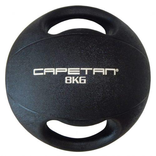 Capetan® Professional Line   Medicinlabda (8kg) (kétfogantyús - dual grip gumi, vízen úszó medicinlabda)