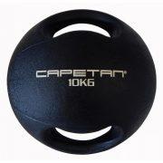Capetan® Professional Line   Medicinlabda (10kg) (kétfogantyús - dual grip gumi, vízen úszó medicinlabda)