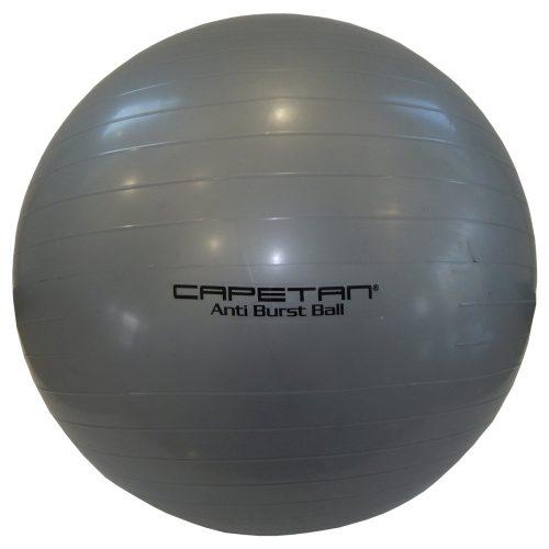 Capetan® Classic 65cm átm. gimnasztikai labda ezüst színben - gimnasztika labda