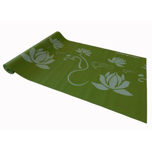 Capetan® | Jógaszőnyeg (173x61x0,4cm, zöld színben, mintákkal)