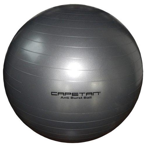 Capetan® |Gimnasztikai labda (durranásmentes, 65cm, ezüst színű)