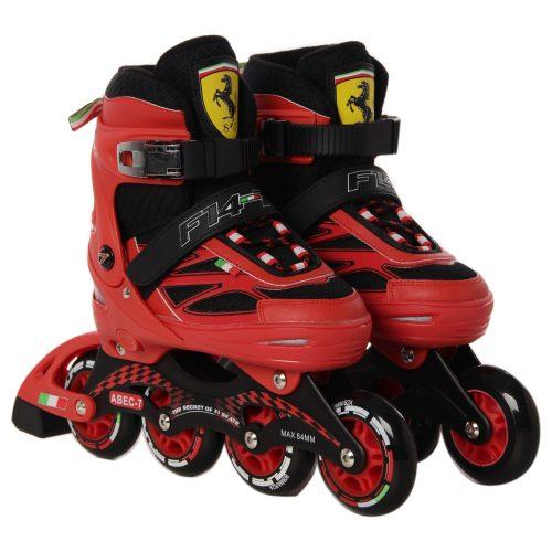 Ferrari® FS4 32-35 méret között állítható fémcsatos gyermek görkorcsolya Piros színben