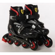 Ferrari® FK7 29-32 méret között állítható kétcsatos gyermek görkorcsolya Fekete színben