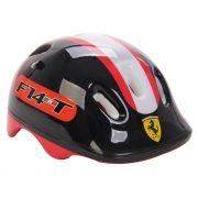 """Ferrari® """"Kiddy"""" bukósisak """"M"""" Fekete színben rollerhez - gördeszkához - görkorcsolyához"""