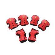 """Ferrari® """"M"""" méretű Piros színű Könyök + csukló + Térd védőfelszerelés szett"""