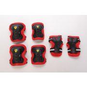 """Ferrari® """"L"""" méretű Fekete színű Könyök + Sípcsont + Térd védőfelszerelés szett"""