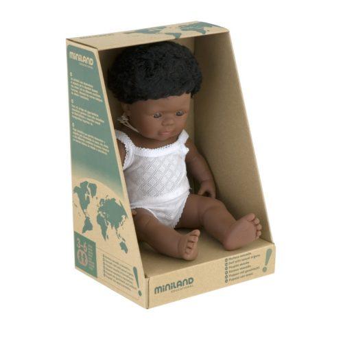 Afroamerikai karakter, fiú baba 38 cm