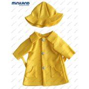 Babaruha sárga esőkabát és kalap 32 cm-es babákra