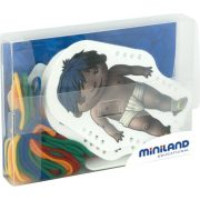 Fűzhető öltöztető baba kártyák különböző bőrszínű kisgyerekekkel, átlátszó dobozban