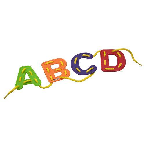 Összefűzhető betűk , kézügyesség fejlesztő, írás - olvasás előkészítő játék
