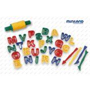 Gyurmázó szett betűkkel, gyermekfoglalkoztató játék