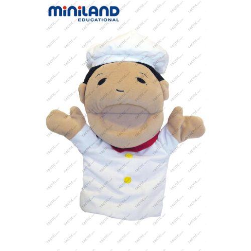 Kézbáb, szakács figura, 30 cm nagy