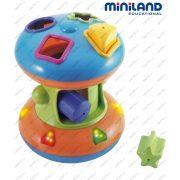 Rollerspin zenélő interaktív formaberakó  játék , Miniland