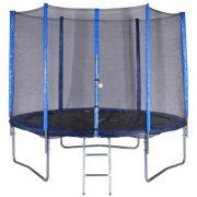 Spartan 305cm trambulin szett létrával gyermekeknek optimalizált ugrófelülettel és rugózással 100Kg teherbírással