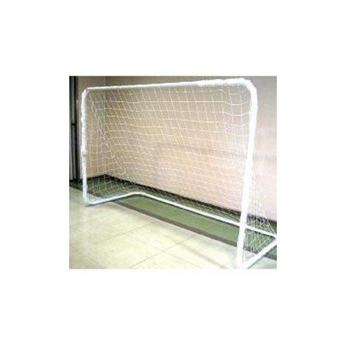 Fém hobby focikapu (240x160 cm, 3,8 cm fém stiftes csövekből könnyen összeállítható, mobil jól szállítható kapu)