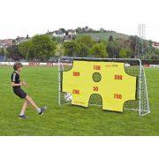 Fém focikapu célzófallal és hálóval (2,9x1,65x0.9m méretű kapu 2,5 cm átmérőjű cső elemekből összeállítható, könnyen szállítható)