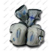 Görkorcsolya-gördeszka védőfelszerelés szett (flexibilis, 6 részes)