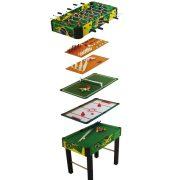 Multi 10in1 kombinált játékasztal (csocsó, léghoki, biliárd, sakk backgammon, dice, tictac toe, hockey)