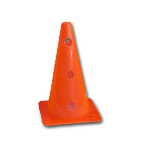 Jelölő boja (38 cm, 12 lyukkal az oldalán, felül zárt boja, neon narancs színben)