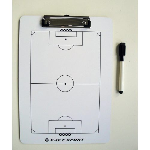 Taktikai tábla foci edzésekhez (A/4 clippes papírcsiptetős kivitelben)